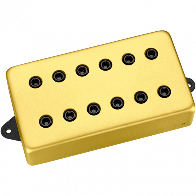 DiMarzio Custom Titan matte gold cover, black polepieces