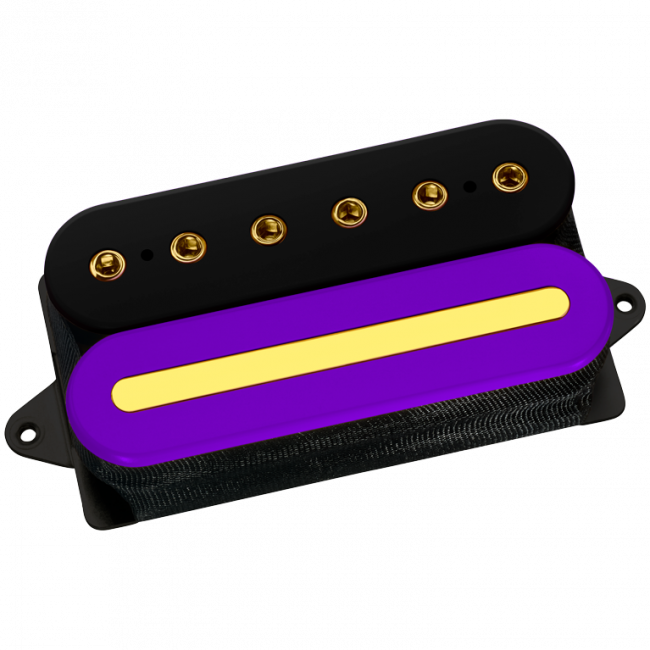 DiMarzio Custom Crunch Lab Black/purple with gold polepieces