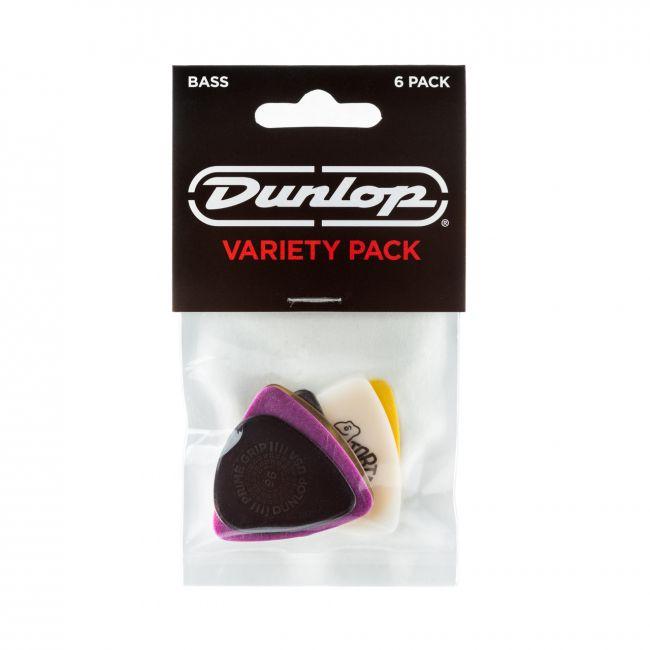 Dunlop PVP117 lajitelma erilaisia bassoplektroja.