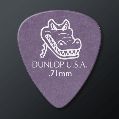Dunlop Gator Grip kategoriakuva. Kuvassa Gator 71 -plektra.