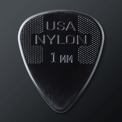 Dunlop Nylon kategoriakuva. Kuvassa Dunlop Nylon Standard 1mm -plektra.
