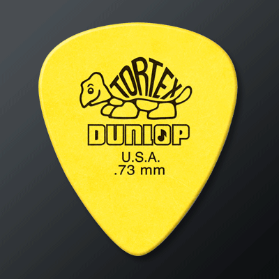 Plektrat-kategoriakuva. Kuvassa Dunlop Tortex Standard 0.73 -plektra.