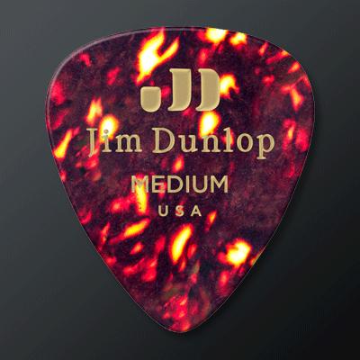 Dunlop Celluloid kategoriakuva. Kuvassa Celluloid Medium -plektra.