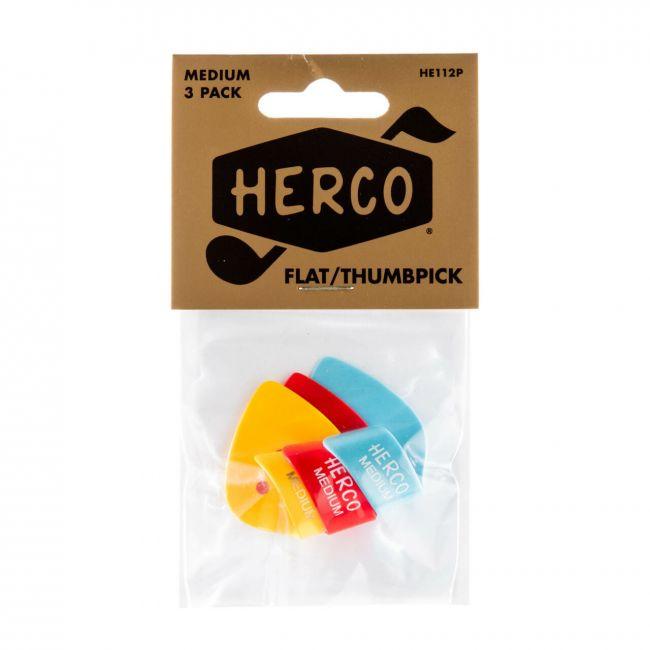 Herco litteät peukaloplektrat.