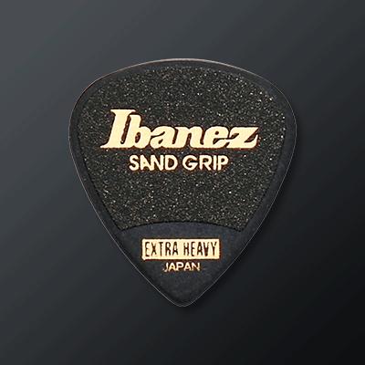 Ibanez Plektrat kategoriakuva. Kuvassa Ibanez Sandgrip Extra Heavy -plektra.