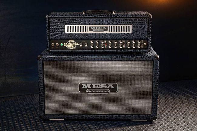 Mesa/Boogie Triple Rectifier nuppi ja kaappi Black Crocodile -viimeistelyllä.