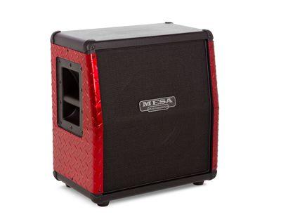 Mesa/Boogie Rectifier Mini -kaappi punaisilla metallireunoilla.
