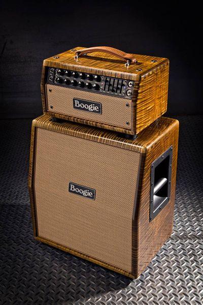 Mesa/Boogie Mark V 25 -stack ruskealla loimuvaahteraviimeistelyllä.