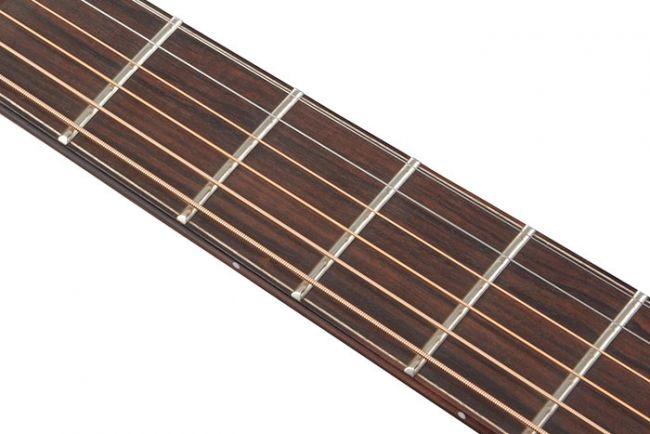 Ibanez PA-kitaran leveä eebenpuuotelauta.