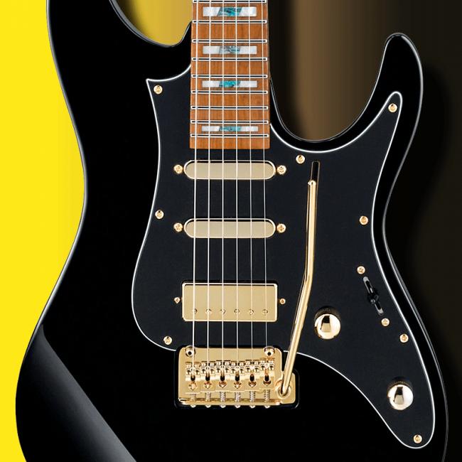 DiMarzio mikrofonit Tim Hensonin THBB10-kitarassa.