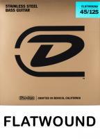 Dunlop Flatwound hiotut basson kielet