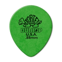 Dunlop Tortex Teardrop 0.88mm plektra.