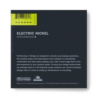Dunlop Nickel Wound Performance+ DEN1356-kitaran kielipaketti takaa.