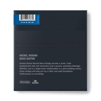 Dunlop Nickel Wound Bass 45-130 5-kielisen basson kielet