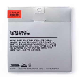 Dunlop Super Bright 45-105 Stainless Steel