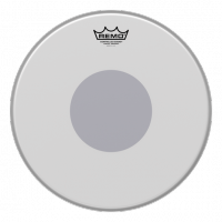 "Remo 14"" Emperor Coated Black Dot -virvelikalvo"