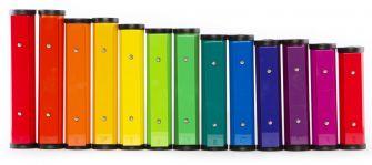 Chroma-Notes kellot on värikoodattu BoomWhackersien tapaan.