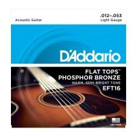 Daddario 012-053 Flat Tops EFT16