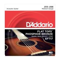 Daddario 013-056 Flat Tops EFT17