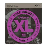 Daddario puolihiottu 009-042 EHR320 Half Rounds
