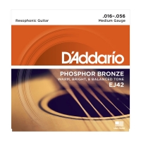 Daddario 016-056 Resophonic Guitar EJ42