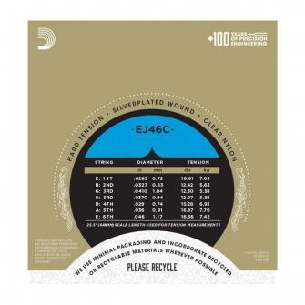 Daddario EJ46C Pro Arte Composite akustisen nylon kielisarja HardTension