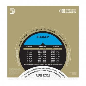 Daddario EJ46LP Pro Arte Lightly Polished Composite akustisen nylon kielisarja HardTension
