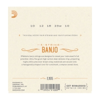 Daddario EJ55 Banjo kielisarja
