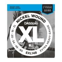 "D Addario EXL148 012-060 ""Drop C""  kielisarja"