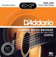 D Addario EXP10 päällystetty akustisen teräskielisarja 010-047