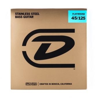 Dunlop Flatwound Bass 45-125 bassokitaran hiotut kielet