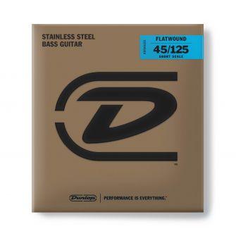 Dunlop Flatwound Short Scale 45-125