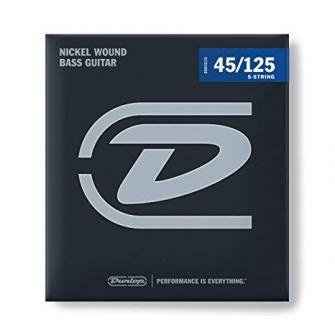 Dunlop Nickel Wound Bass 45-125 Extra Long