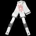 DiMarzio Jim Root #4 White Cliplock kitarahihna