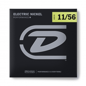 Dunlop Nickel Wound Performance+ DEN1156-sähkökitaran kielet drop-vireille.