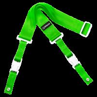 DiMarzio ClipLock kitarahihna vihreä valkoiset osat