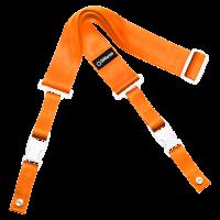 DiMarzio ClipLock kitarahihna. Oranssi, valkoiset osat.