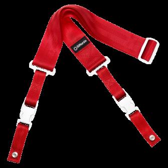 DiMarzio ClipLock kitarahihna punainen, valkoiset osat.