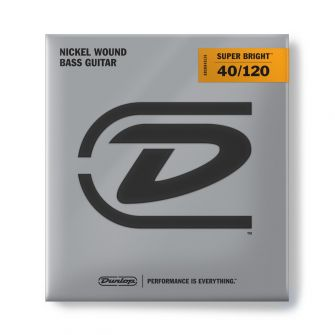 Dunlop Super Bright Nickel 40-120 Short Scale basson kielet.