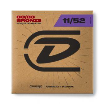 Dunlop 11-52 akustisen pronssikielet 80/20 Bronze.