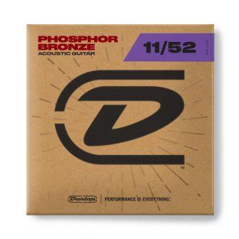 Dunlop 011-052 fosforipronssi -akustisen kitaran kielet.