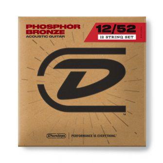 Dunlop 12-52 Phosphor Bronze 12-kielisen kielet.
