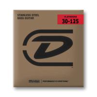 Dunlop Flatwound 6-kielisen basson hiotut kielet.