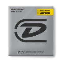 Dunlop Super Bright Nickel 40-100 Short Scale basson kielet.