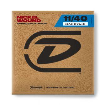 Dunlop DMN1140 - nikkelipäällysteinen mandoliinin kielisetti.