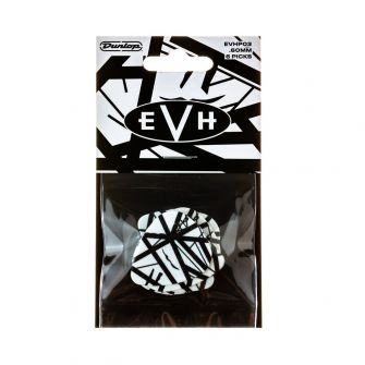 Dunlop EVH White with Black Stripes plektralajitelma.