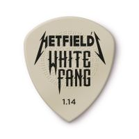 James Hetfield White Fang plektra 1.14mm edestä kuvattuna.