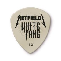 Metallica James Hetfield White Fang plektra 1.00mm edestä kuvattuna.