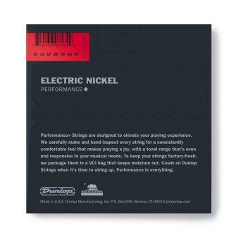 Dunlop Nickel Wound Performance+ DEN1056- 7-kielisen kitaran kielipaketti takaa.