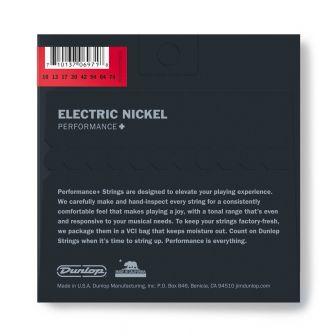 Dunlop Nickel Wound Performance+ DEN0974- 8-kielisen kitaran kielipaketti takaa.